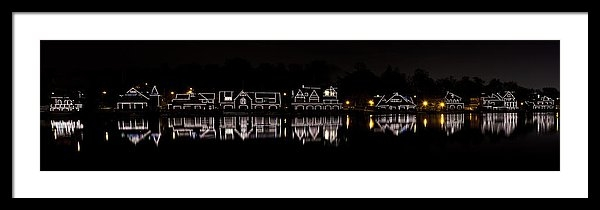 Brendan Reals - Boathouse Row panorama - ... Print