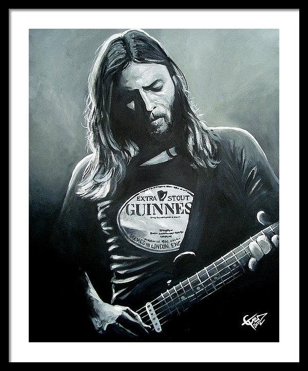 Tom Carlton - David Gilmour Print
