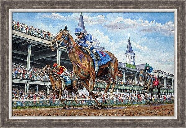 Mike Rabe - Kentucky Derby - Horse Ra... Print