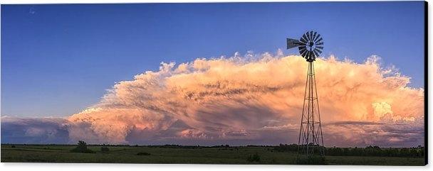 Scott Bean - Kansas Storm and Windmill Print