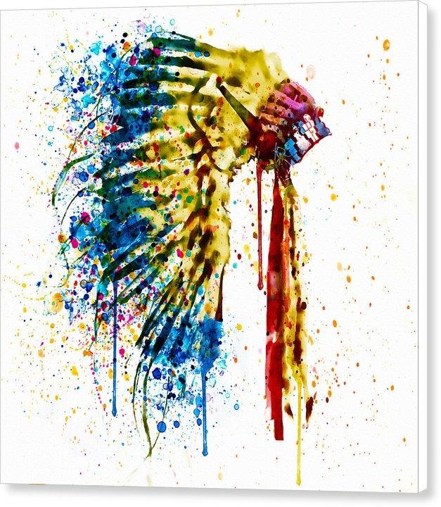 Marian Voicu - Native American Feather H... Print