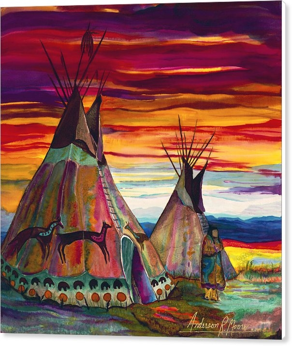 Anderson R Moore - Summer on the Plains Print