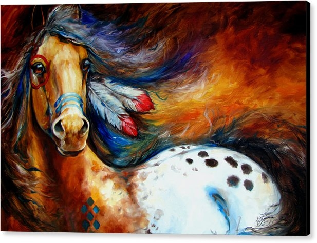 Marcia Baldwin - Spirit Indian Warrior Pon... Print