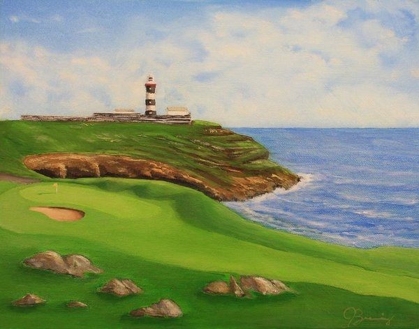 Jacob Browning - Golf Old Head of Kinsale Print