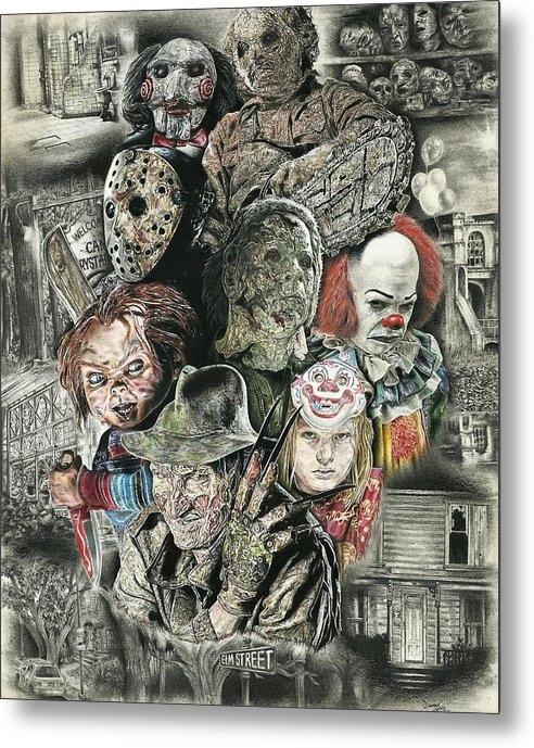 Daniel  Ayala - Horror Movie Murderers Print