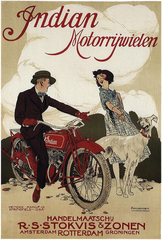 Daniel Hagerman - INDIAN MOTORRYWIELEN  c. ... Print