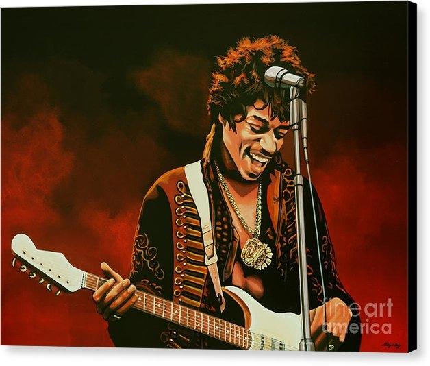 Paul Meijering - Jimi Hendrix Painting Print