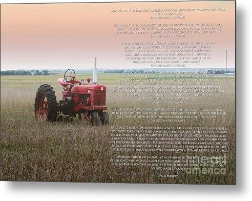 Rebecca Davis - So God Made A Farmer Print