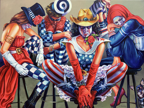 Jill Pankey - Cinco Sisters Sitting In ... Print