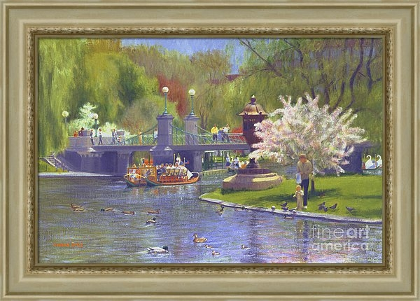 Candace Lovely - Springtime Swan Boats Print
