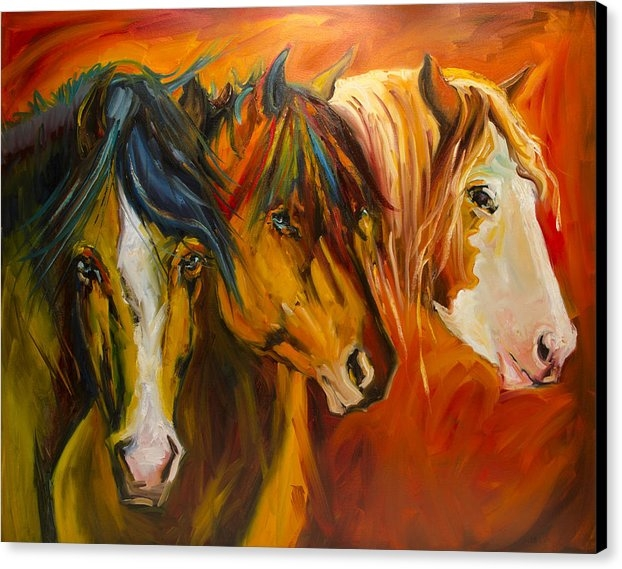Diane Whitehead - Three at the Fence Line Print
