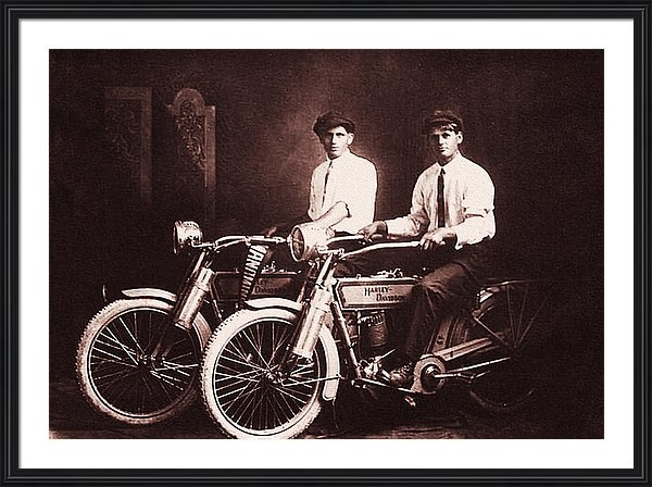 Bill Cannon - William Harley and Arthur... Print