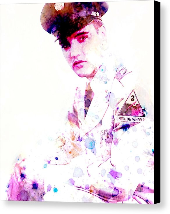 Brian Reaves - Elvis as a Soldier Print