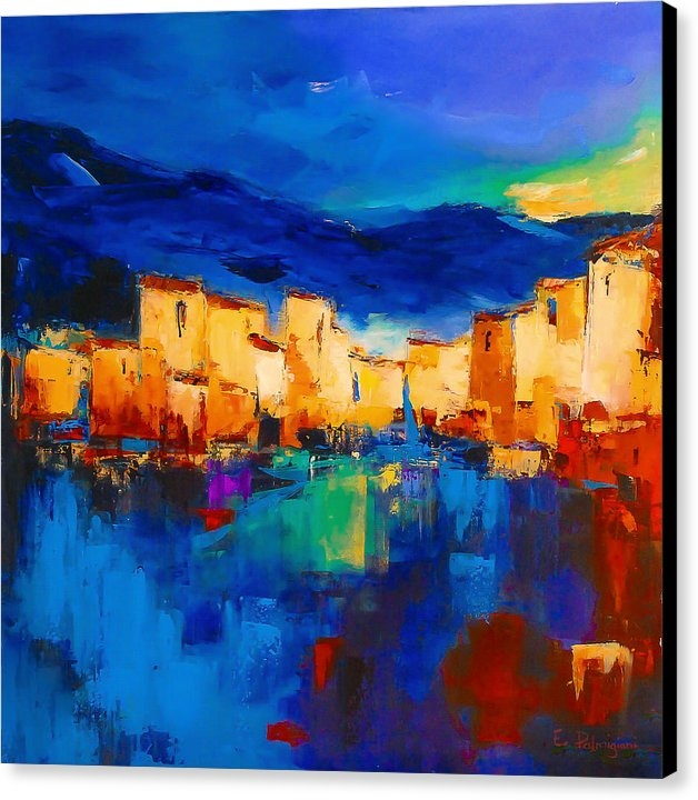 Elise Palmigiani - Sunset Over the Village Print