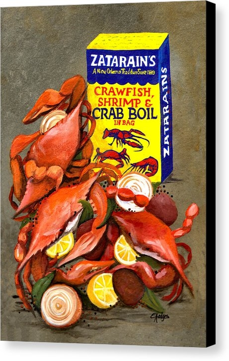 Elaine Hodges - Louisiana Boiled Crabs Print