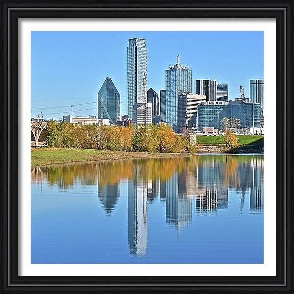Frozen in Time Fine Art Photography - Trinity River View of Dal... Print