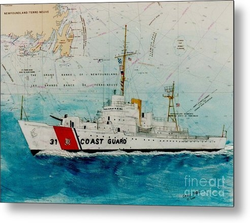 Cathy Peek - USCGC Bibb Nautical Chart... Print