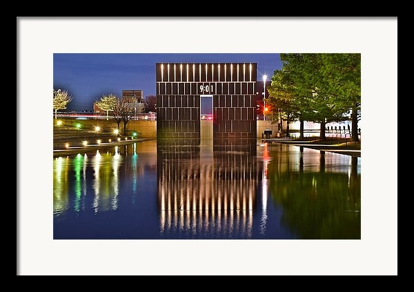 Frozen in Time Fine Art Photography - OKC Bombing Memorial Pool Print
