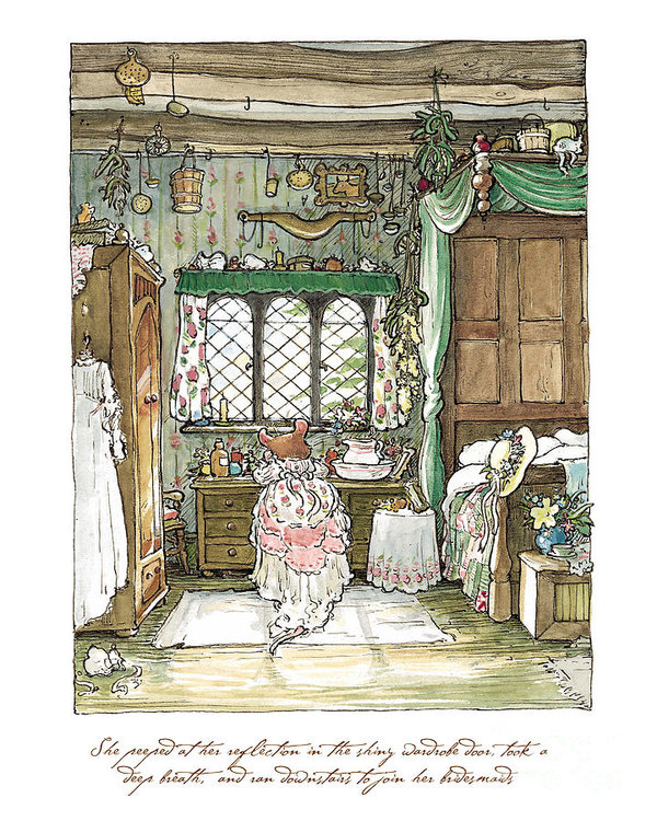 Brambly Hedge - Poppy puts on her wedding... Print