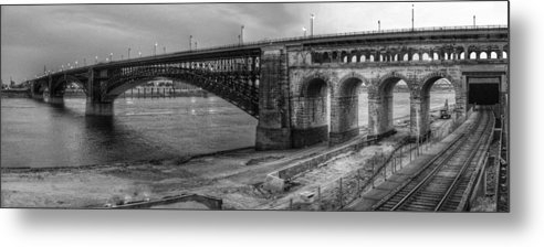 Buck Buchanan - Panorama Eads Bridge in B... Print
