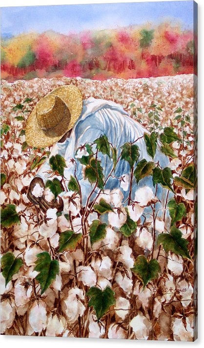 Barbel Amos - Picking Cotton Print