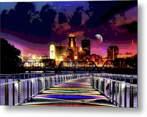 Mary Clanahan - Des Moines Grays Bridge N... Print
