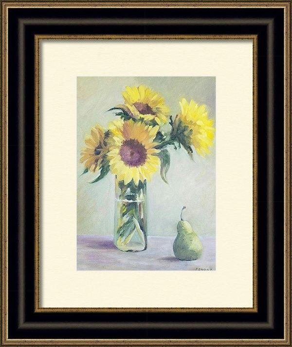 Pat Snook - Sunflower Still Life Print