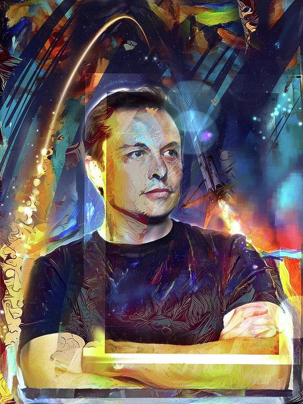 Russell Pierce - Elon Musk Print