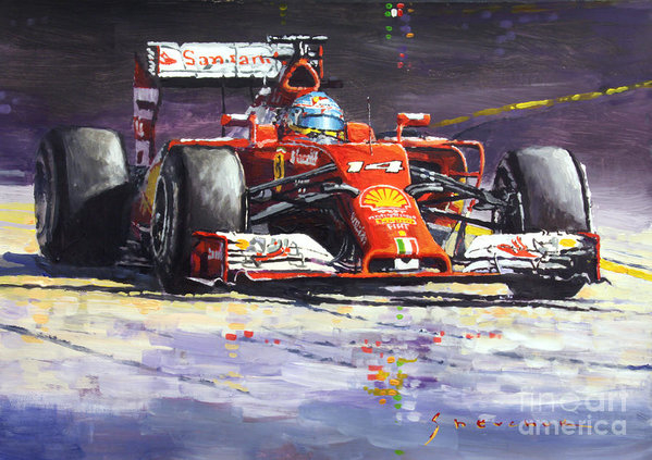 Yuriy Shevchuk - 2014 Ferrari F14T Fernand... Print