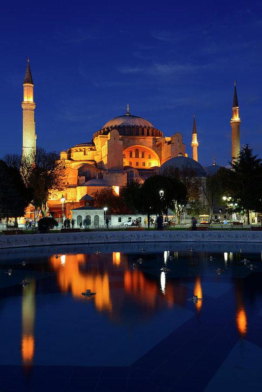 Reimar Gaertner - Lights on Hagia Sophia at... Print