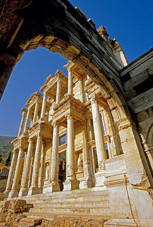 Dennis Cox WorldViews - Ephesus library 2 Print