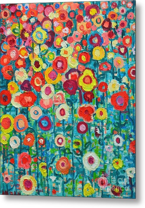 Ana Maria Edulescu - Abstract Garden Of Happin... Print