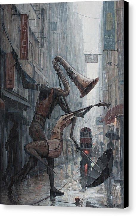 Adrian Borda - Life is  dance in the rai... Print