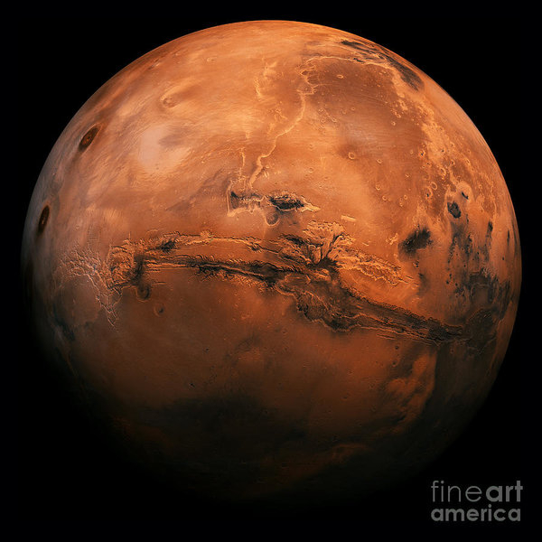 Edward Fielding - Mars The Red Planet Print