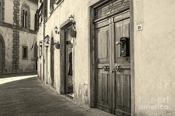 Prints of Italy - Corner of Volterra Print