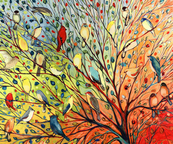 Jennifer Lommers - 27 Birds Print