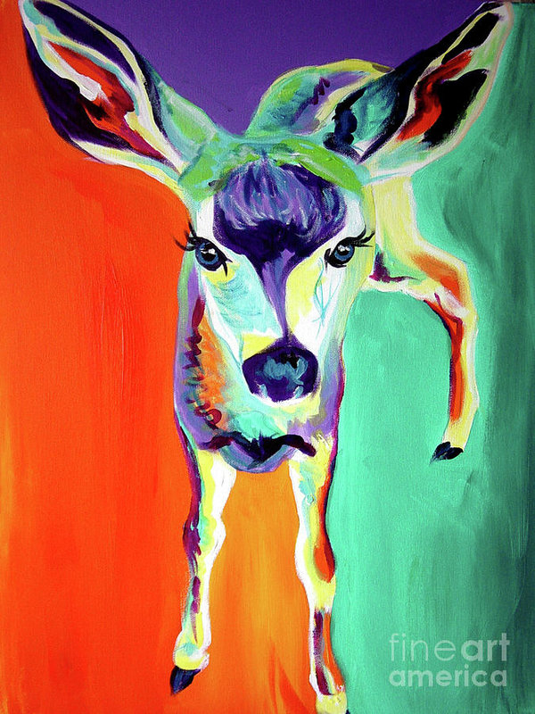Alicia VanNoy Call - Deer - Fawn Print