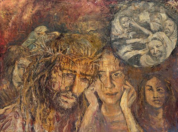 Patricia Trudeau - Station VIII Jesus Meets ... Print