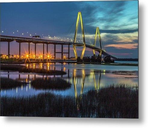 Donnie Whitaker - Ravenel Bridge Reflection Print