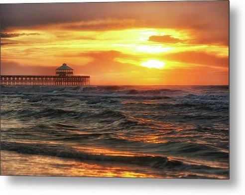 Donnie Whitaker - Folly Beach Pier Sunrise Print