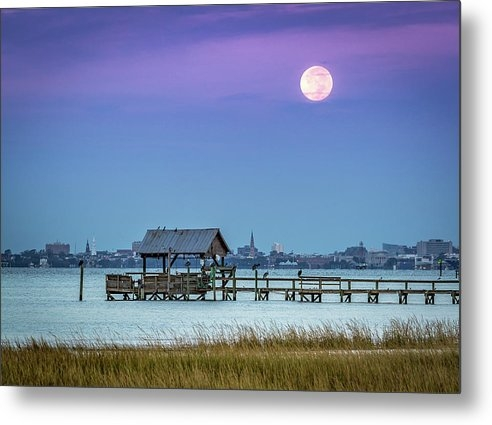 Donnie Whitaker - Fall Moon and King Tide -... Print