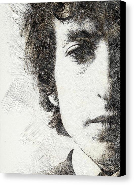 Pablo Romero - Bob Dylan portrait 02 Print