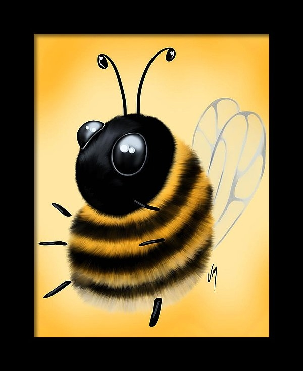 Veronica Minozzi - Funny bee Print