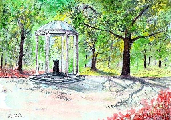 Patrick Grills - Old Well Chapel Hill Print