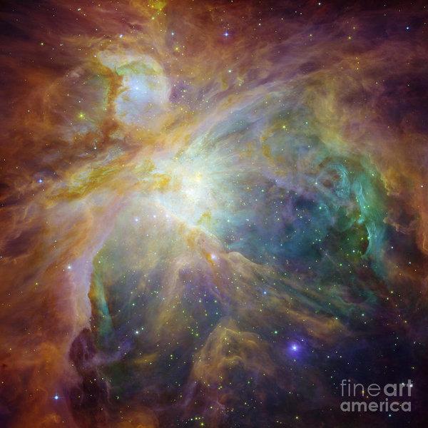 R Muirhead Art - Spitzer and Hubble Create... Print