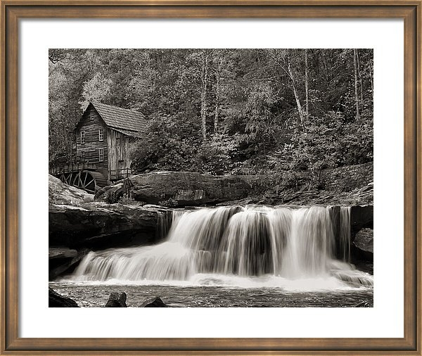 Chris Flees - Glade Creek Grist Mill Mo... Print