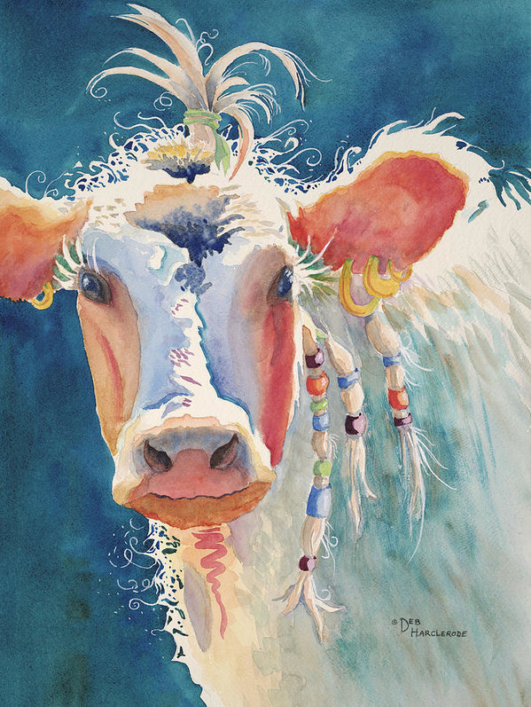 Deb  Harclerode - Party Gal - Cow Print