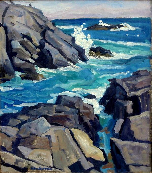 Thor Wickstrom - Monhegan Surf Maine Seasc... Print