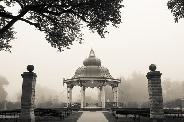Scott Rackers - Music Stand in fog Print