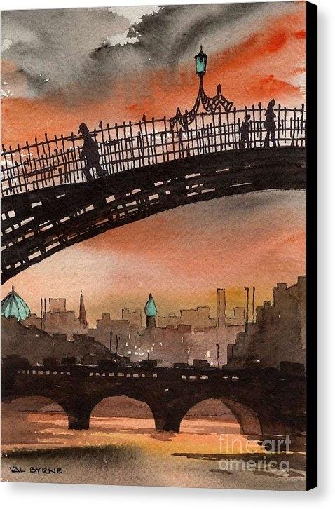 Val Byrne - Ha Penny Bridge  Dublin 1 Print